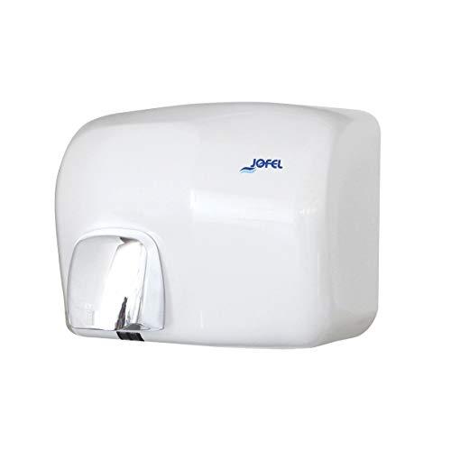 JOFEL- Secador de Manos con Sensor Óptico, Cubierta Vitrificada Color Blanco, Secado Rápido, Alta Resistencia, Ideal Para Uso...