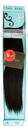 "Bobbi Boss Indi Remi Human Hair Extension Weave 18"" Silky #1B/27 (Off-Black/Strawberry Blonde)"