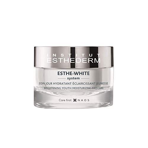 Institut Esthederm - Esthe-White System - Soin Eclaircissant Réparateur Jour - Hydrate Intensément, Unifie le Teint, Action Antioxydante et Anti-Taches - Pot 50ml