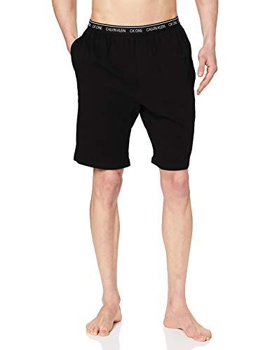 Calvin Klein Sleep Short Pantalones de Pijama, Negro (Black 001), L para Hombre