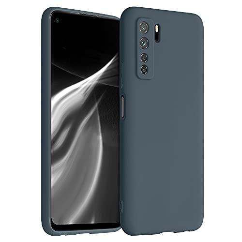 kwmobile Hülle kompatibel mit Huawei P40 Lite 5G - Hülle Silikon - Soft Handyhülle - Handy Hülle in Slate Gray