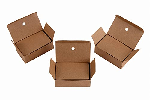 KAHNIs 茶色【3箱セット】 メッセージカード 名刺 クラフト紙 カード 荷札 ラベルタグ 無地 100枚