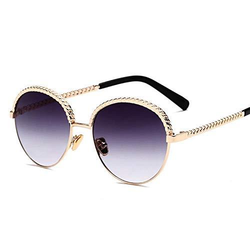 HZFZ Gafas De Sol Gafas De Sol Femeninas Gafas De Viaje Al Aire Libre Espejo Redondo