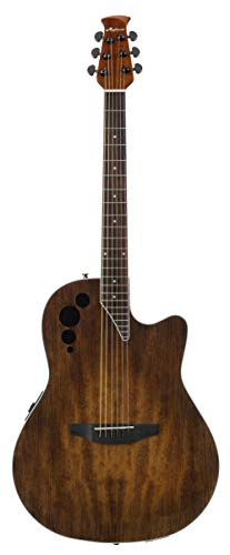 Ovation Applause 6 String Acoustic-Electric Guitar, Right, Vintage Varnish, Mid-Depth (AE44II-VV)