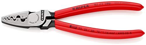 KNIPEX 97 71 180 Crimpzange für Aderendhülsen mit Kunststoff überzogen 180 mm
