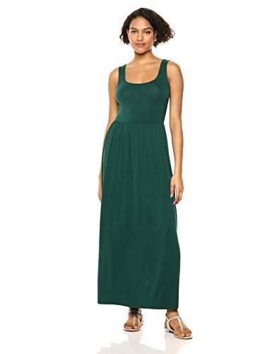 Amazon Essentials Women's Solid Tank Waisted Maxi Dress, Jade, L