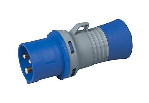 Rosi 9213 SPINA MOBILE INDUSTRIALE IP44, grigio/blu, 16A 2P+T