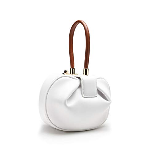 Get The Looks Celebrity Royal Loved Nina Demi Clip On Bow Bag (Nina (Larger, 9' 6'), White and Brown)