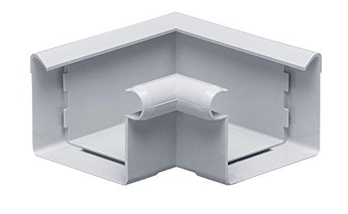 INEFA Rinnenwinkel 90°, kastenförmig, Wulst innen Grau NW 68 - Kunststoff, Verbindungsstück, Dachrinnen-Zubehör fürs Gartenhaus
