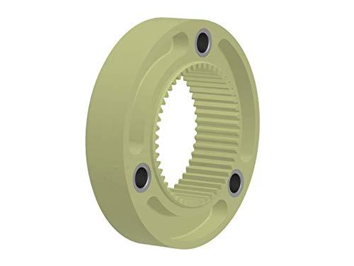 BoWex 48 FLE-PA - Acoplamiento de brida, 125 mm de diámetro, 100 mm de diámetro, 3 x 11 mm de diámetro