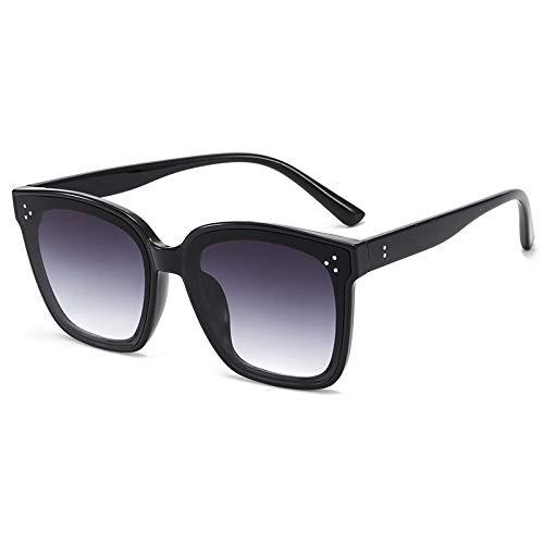 N\P Gafas de sol cuadradas para hombres y mujeres, gafas de sol con gafas de arroz grandes