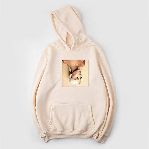 Moda Ariana Grande Trend Series Suéter Holgado con Capucha para Hombres y mujeresSuéteres Casuales de murciélago Jersey de Manga Larga