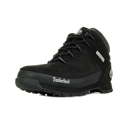 Timberland Mens Euro Sprint Leather Hiking Brown Winter Ankle Boots - Black - 7.5/41