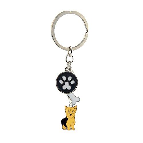 bbeart® Perro llavero llavero, cachorro de perro pequeño llavero de metal llavero llavero clave Etiquetas coche Llavero Bolsa Charm cumpleaños regalo de Navidad, Yorkshire -B, Small