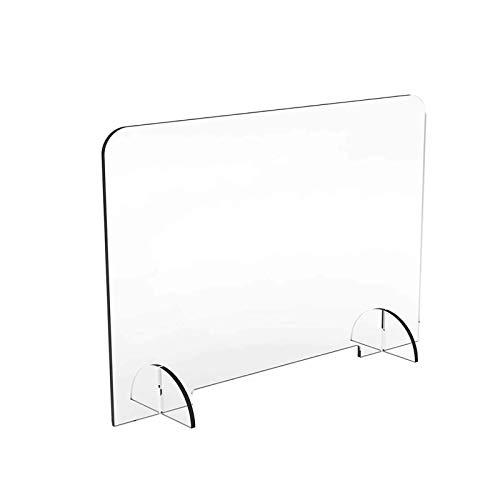 LBBGM Schutzscheibe mit Durchreiche Aufsteller als Niesschutz, Spuckschutz aus Acrylglas mit Durchreiche, Plexiglas Schutzwand, Hustenschutz(1pcs60x90cm)