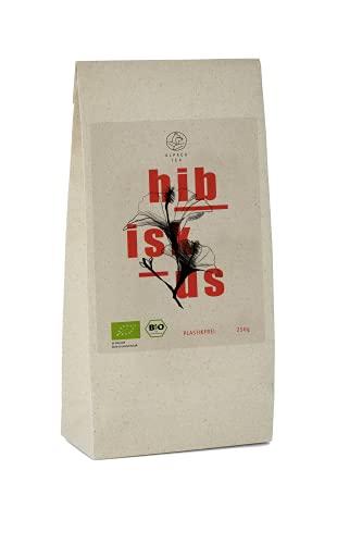 Bio Hibiskus Tee | Graspapierverpackung | getrocknete Hibiskusblüten für Tee und Eistee (250g)