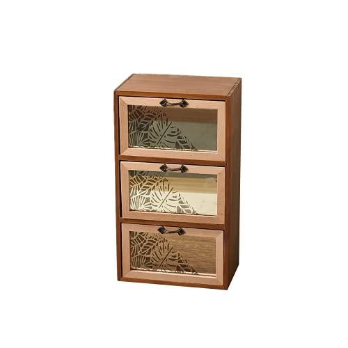 Gabinete de almacenamiento de cajones EasenHub 3, caja de almacenamiento de almacenamiento de madera