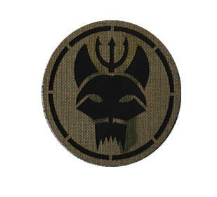 Navy Seal Team 6 Bravo DevGru TV Show Wolf Head Trident Infrared Reflective IR Patch Military Tactical Morale Patch Badges Emblem Applique Hook Patches for Clothes Backpack Accessories