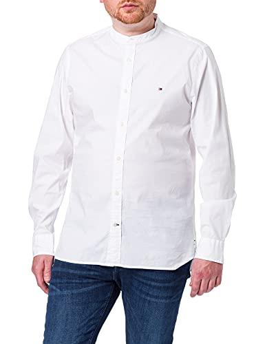 Tommy Hilfiger Slim Stretch Poplin Shirt Camisa, White, X-Large para Hombre