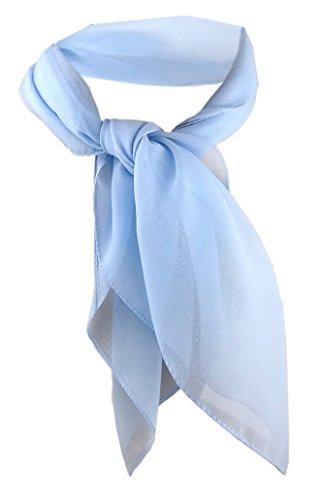 TigerTie Damen Chiffon Nickituch blau hellblau Gr. 50 cm x 50 cm - Tuch Halstuch Schal