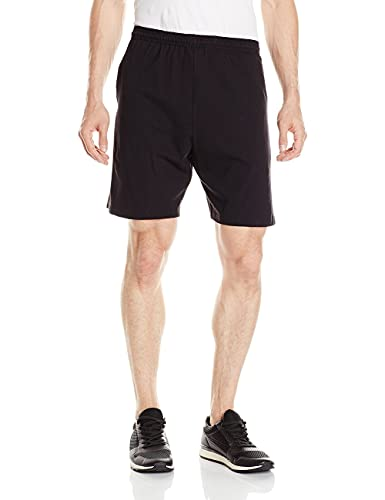 Hanes Men's Jersey Short with Pockets, Black, XX-Large
