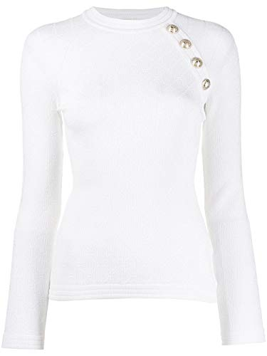 Luxury Fashion | Balmain Dames SF13076K4620FB Wit Synthetische Vezels Truien | Herfst-winter 19