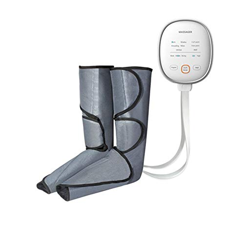 JINGBO Leg Massager Leg Foot Air Wave Squeeze Circulation with Heat Massager 6 Modes 3 Intensities and Hand Held Intelligent Massager Helpful for Relax Legs and Edema