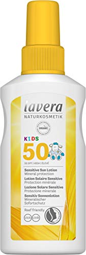 Lavera KIDS Sensitive Sun Lotion SPF 50, Sun Care, Natural Cosmetics, vegan, certified, 100ml