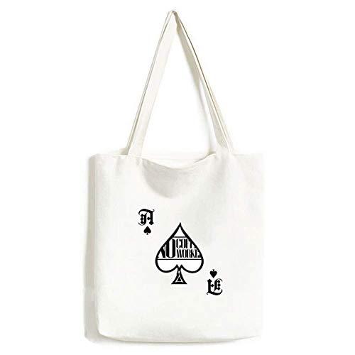 Geen koffie Geen Workee Quote Handtas Craft Poker Spade Wasbare Tas