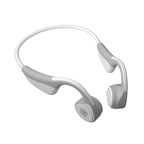 Auriculares de conducción ósea, 5.0 auriculares ligeros a prueba de corriente auriculares auriculares abiertos con micrófono para deportes, conducción, hogar y oficina, reunión en línea, etc.