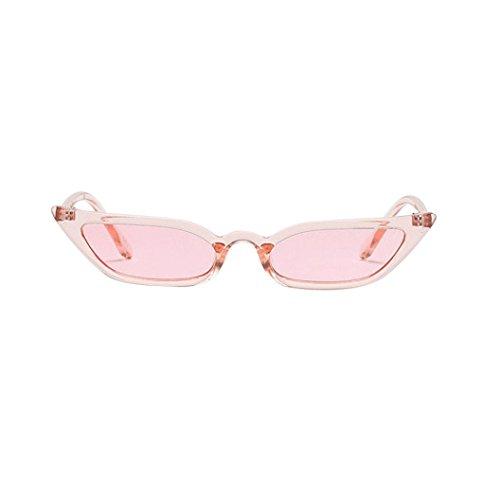 Huhu833 Weinlese Katzenaugen Sonnenbrille Retro kleiner Rahmen UV400 Eyewear Mode DamenReise Sonnenbrille (Rosa)