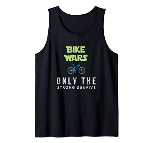 Funny Best Mountain Biking Bike Wars. Boys and Girls. Tank Top
