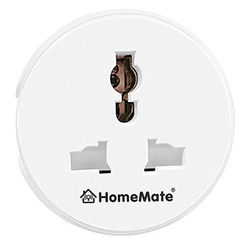 HomeMate® WiFi Smart Plug Socket (Pack of 1) | No Hub Required | Compatible with Alexa, Google Home...