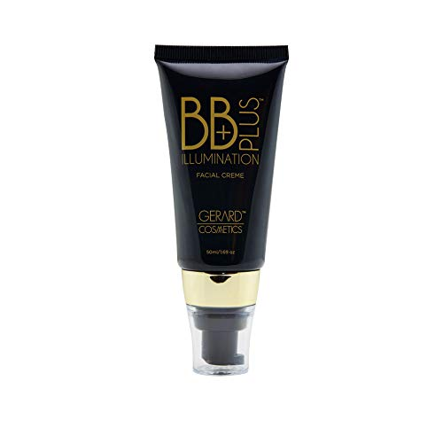 Gerard Cosmetics BB Plus Illumination Facial Crème - Moisturizing, Hydrating, Brightening Face Cream - Tinted Makeup Foundation Base, Highlighter, Primer for Glowing Complexion - 1.69 Ounce - Grace