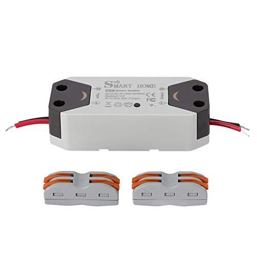Interruptor de circuito inteligente WiFi, control remoto Línea cero AC90-250V Hecho de ABS