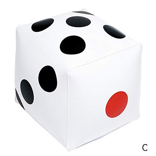 dianqin14 35cm * 35cm Dados inflables Dot Diagonal Tridimensional Jumbo Cube Gigante...