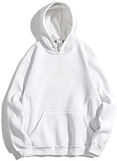 The SV Style Unisex Plain White Hoodie/Hoodie for Men & Women/Warm Hoodie/Unisex Hoodie