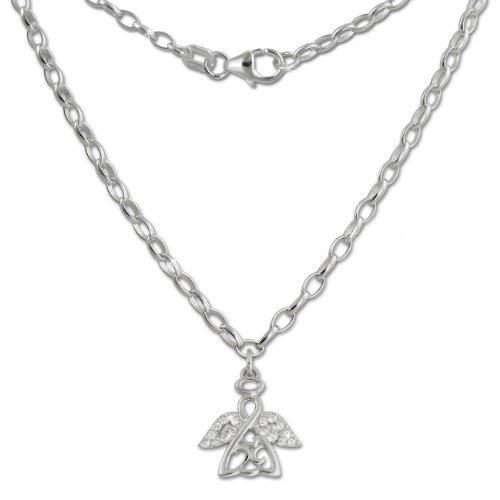 Teenie-Weenie Engel Halskette silber Kinder Schmuck 38cm 925 Silber SDK01638
