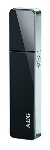Elektrischer Nasenhaar-Trimmer Nasenhaarentferner Ohrhaarentferner Rasierer Schwarz (Edelstahlscherkopf, LED Licht, Batteriebetrieben)
