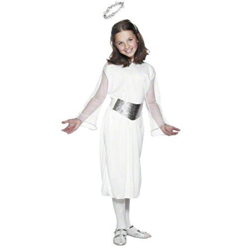 NET TOYS Déguisement Ange Enfant Blanc L 145-158 cm déguisement d'ange déguisement Ange déguisement de Carnaval pour Enfant déguisement Carnaval Enfant
