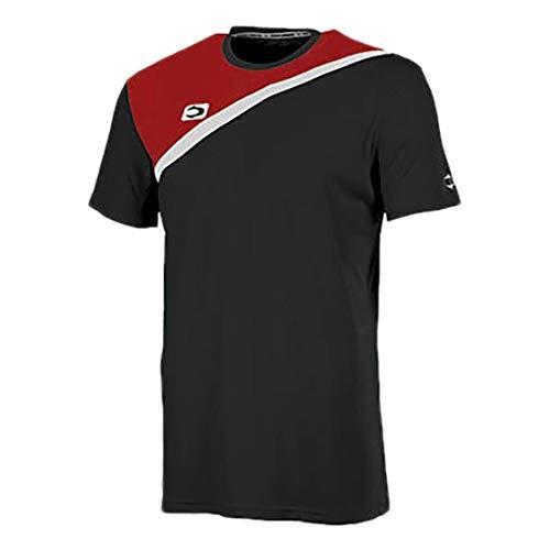John Smith ACIS Camisetas, Hombre, Negro/Rojo, S