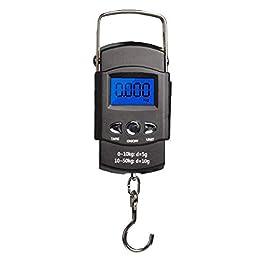 Pêche Balance Numérique Hanging Affichage Électronique LCD avec Mesure Hanging Bande Crochet Rétroéclairés AAA Batteries…