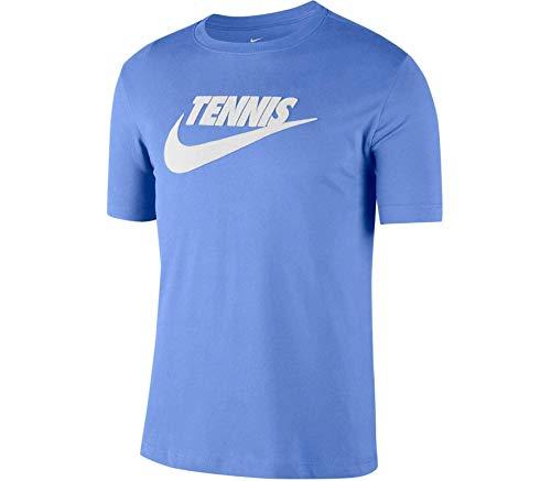 NIKE Herren Tennisshirt Court Dri-FIT Graphic Tee Gr. M, blau