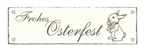 SCHILD Dekoschild « FROHES OSTERFEST » Frohe Ostern Shabby Vintage Holzschild Türschild Dekoration Happy Easter