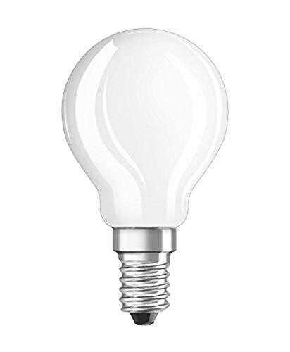 Osram Ampoule LED à Filament Dépolie | Culot E14 | Forme Sphérique | Blanc Froid 4000K | 4W (équivalent 40W)