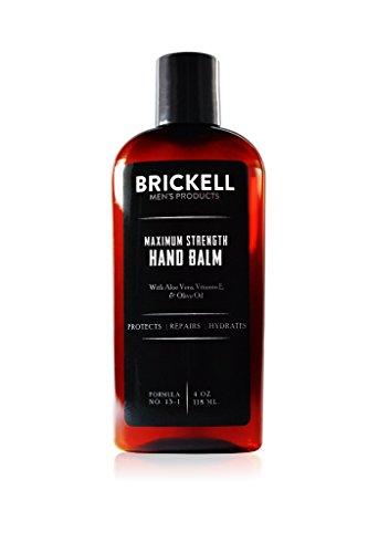Brickell Men's Products – Crema para Manos Fuerza Máxima para Hombres – Natural y Orgánica (Sin fragancia) – 118 ml