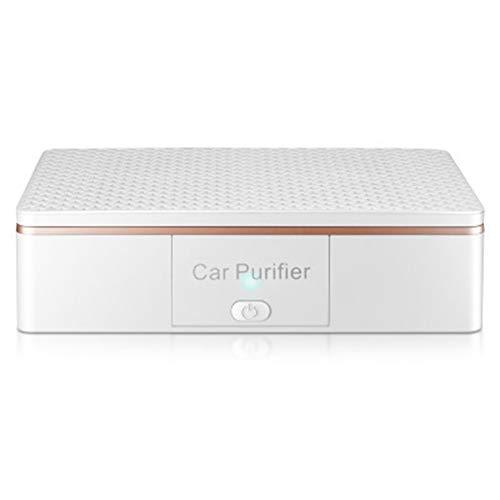 Op het voertuig gemonteerde luchtreiniger met negatieve ionen, USB oplaadbare luchtreiniger voor thuis en op kantoor, multifunctionele intelligente luchtreiniger behalve PM2.5,White