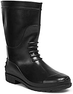 Hillson Safety shoes Gumboot, Without Lining, Black, UK Size 10