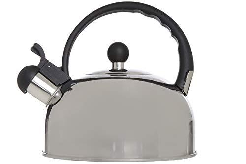 Cosy & Trendy 6173044 Bouilloire 2.5L INOX POIGN.Noire D19XH19, Autre, Aluminium