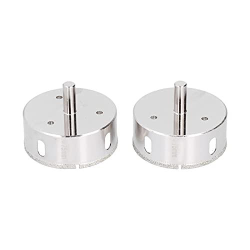 2 piezas de brocas de diamante, juego de brocas de núcleo hueco para cerámica de vidrio con revestimiento de diamante, baldosas de cerámica de porcelana